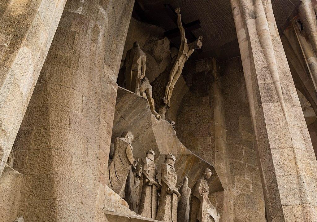 Façade de la passion de la Sagrada familia à Barcelone - Photo de Oliver Gargan