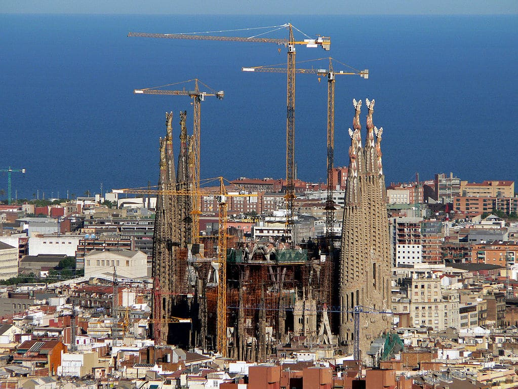 Chantier de la Sagrada Família à Barcelone : Travaux en 2008 - Photo d'Oliver Bonjoch