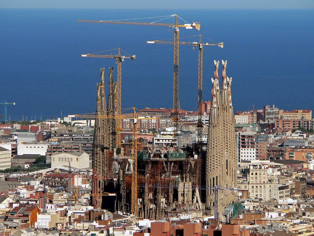 Chantier de la Sagrada Família à Barcelone : Travaux en 2008 - Photo d'Oliver Bonjoch