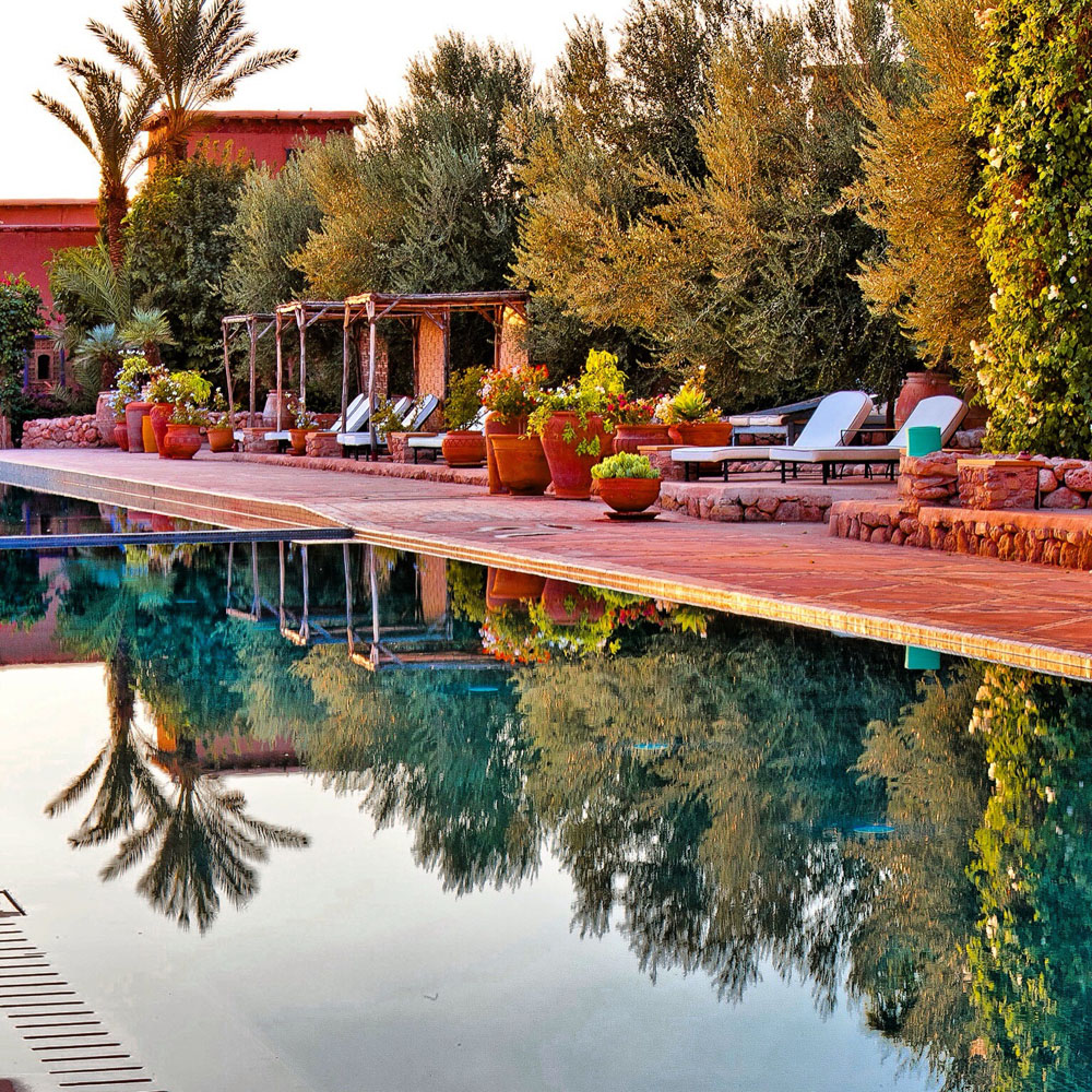 Piscine du Beldi country club à Marrakech