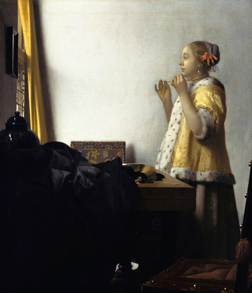 """Jeune fille à la perle"" de Vermeer dans la Gemaldegalerie de Berlin."