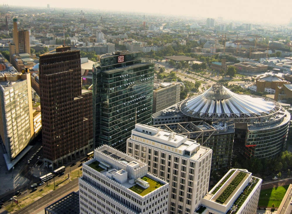 Vue sur le quartier de Potsdamer Platz à Berlin - Photo de Micheal J Zirbes