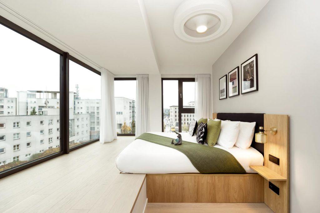 Chambre du Wilde Aparthotels, hôtel de charme à Berlin.