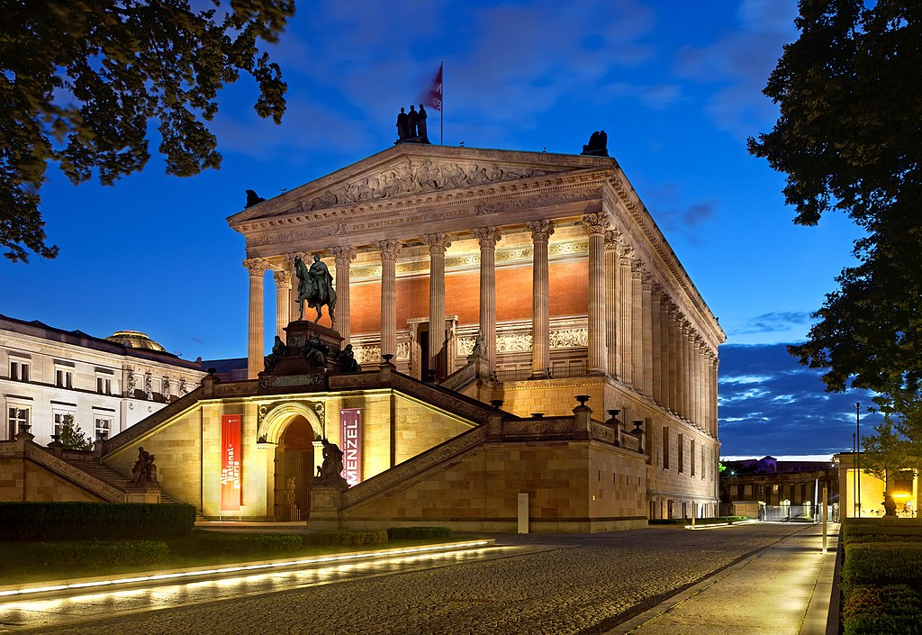 Monument de Berlin : Alte NationalGalerie sur l'île aux musée à Berlin. Photo de Thomas Wolf www.foto-tw.de