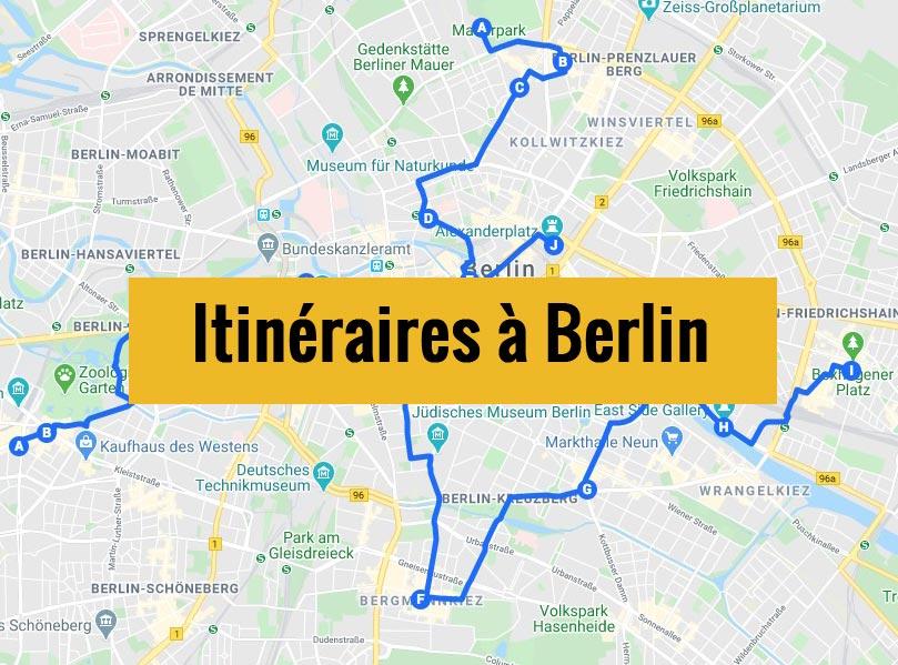 Itinéraires détaillés pour visiter Berlin (Allemagne) en 2, 3 jours ou plus.