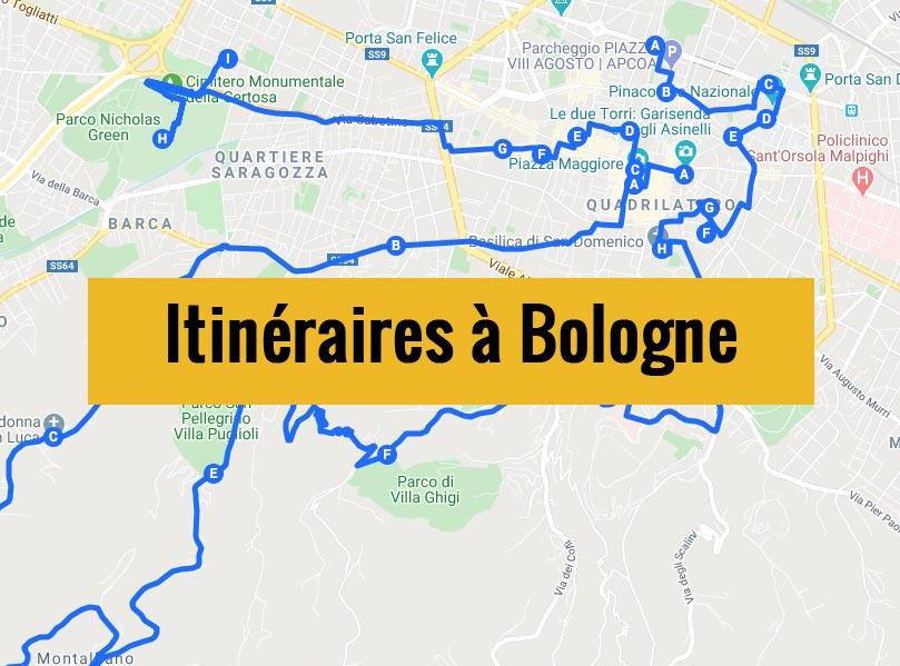 Itinéraires détaillés pour visiter Bologne (Italie) en 2, 3 jours ou plus.