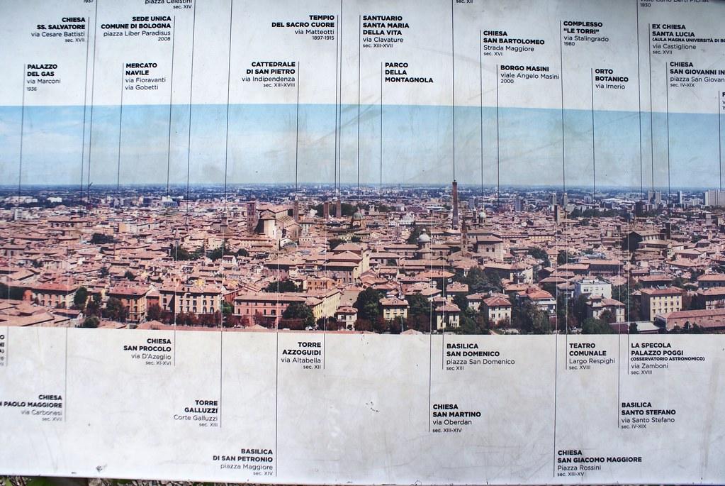 6 vues panoramiques de Bologne depuis le centre et les collines