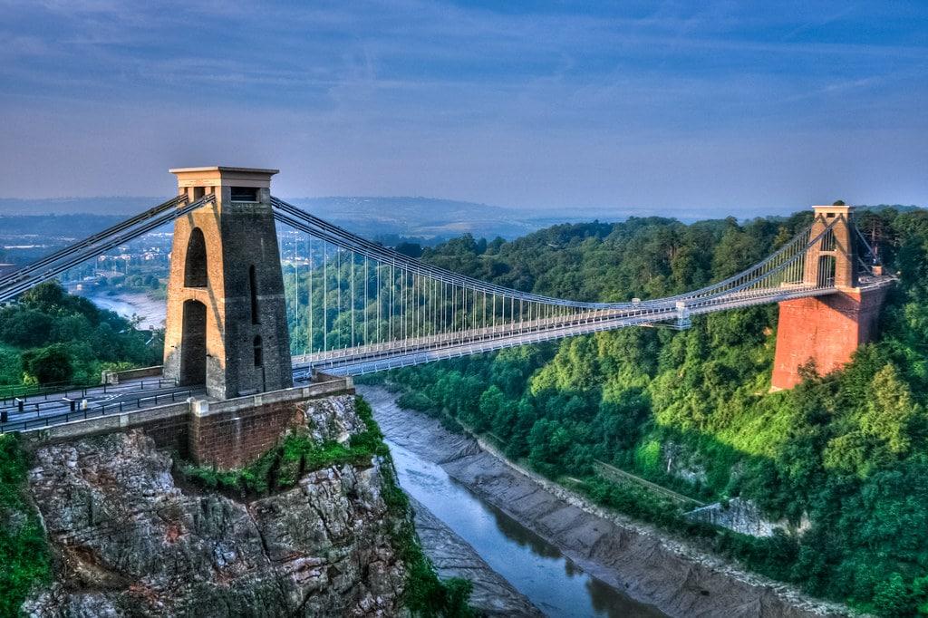 Clifton bridge, le pont suspendu de Bristol. Photo de PRODerek Σωκράτης Finch