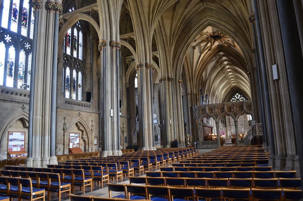 Nef de la Cathédrale de Bristol.
