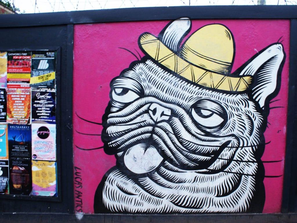 > Street Art à Bristol : Vous ne saurez pas où donner de la tête.