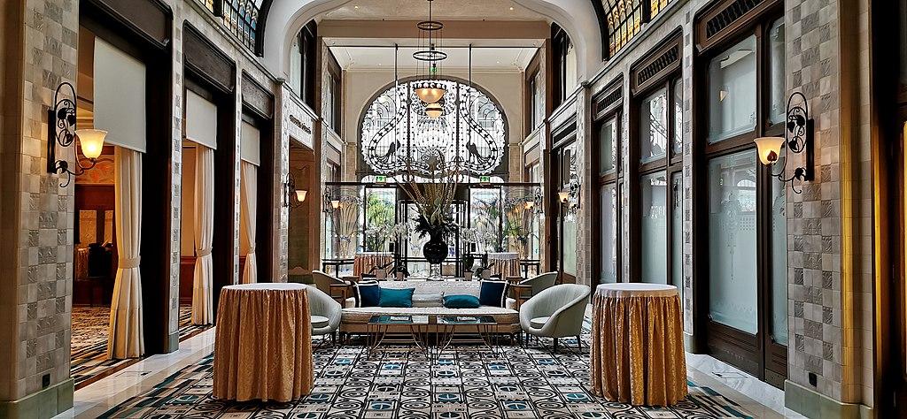 Intérieur de l'hotel de luxe Palace Gresham à Budapest - Photo de Thaler Tamas