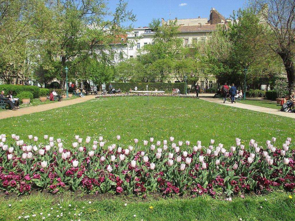 Charmant jardin du centre de Budapest : Károlyi kert - Photo de Hujber Tünde