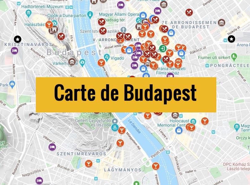 Carte de Budapest (Hongrie) : Plan détaillé gratuit et en français à télécharger