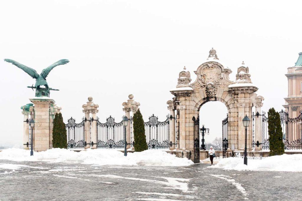 Palais sur la colline de Buda à Budapest - Photo de Dimitry Anikin