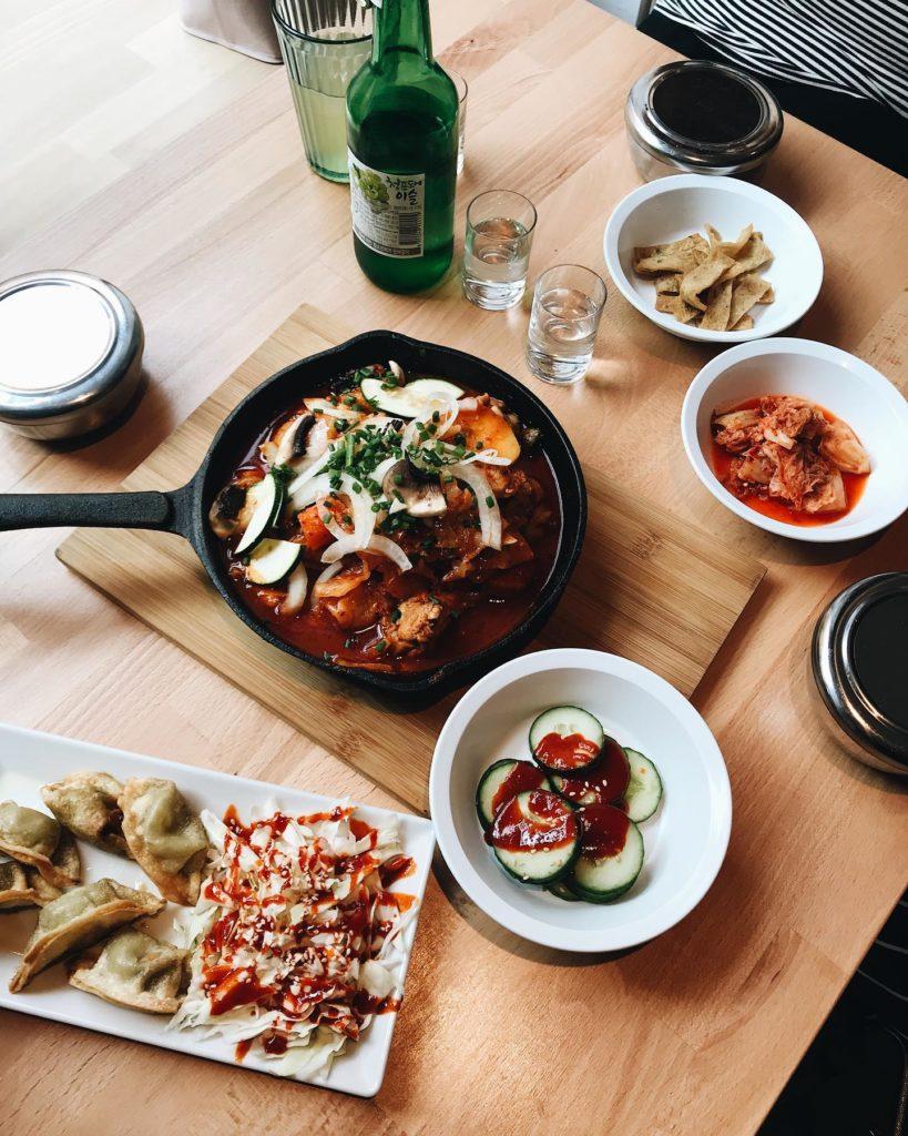 A Cracovie dans le restaurant corééen Sweet Life.