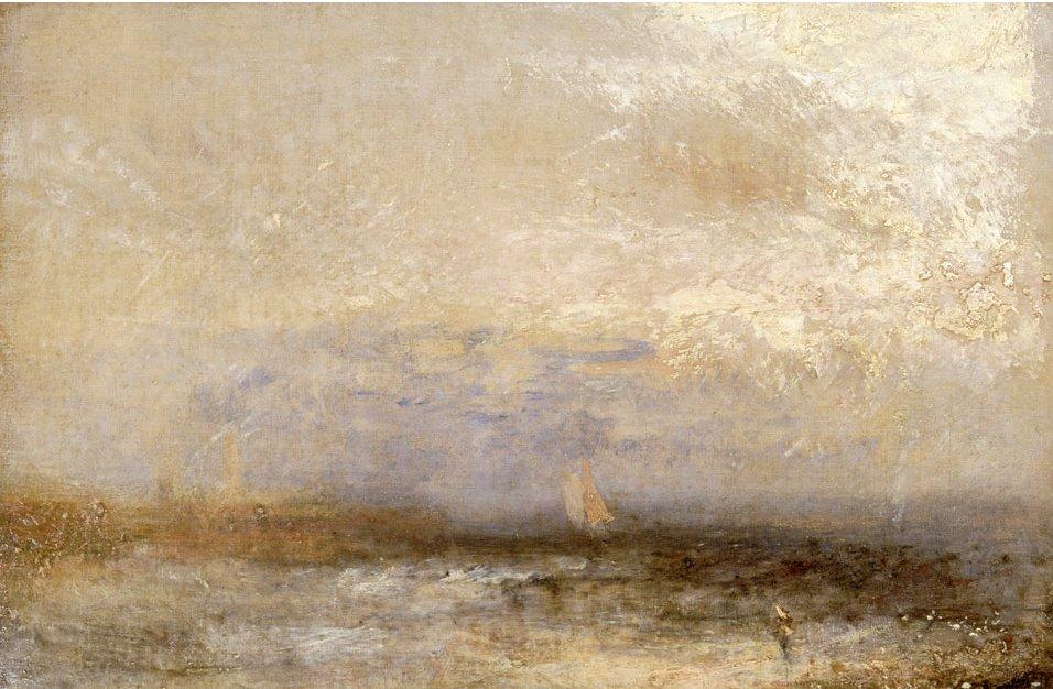 """Off Margate"" (1840) de J.M.W. Turner au National Museum Cardiff."