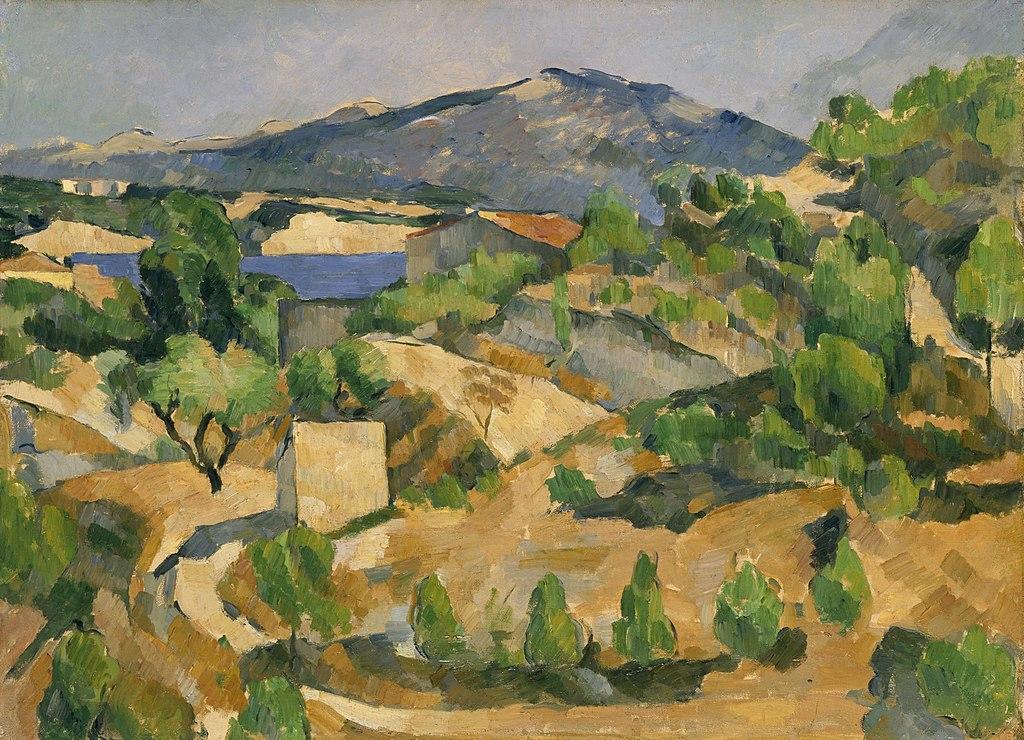 """""""Le barrage de François Zola"""" (1879), tableau de Paul Cézanne au National Museum Cardiff."""