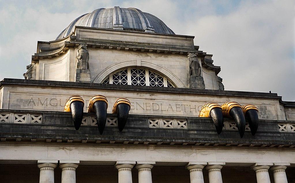 Installation sur le batiment du National Museum Cardiff - Photo de Adam Saif
