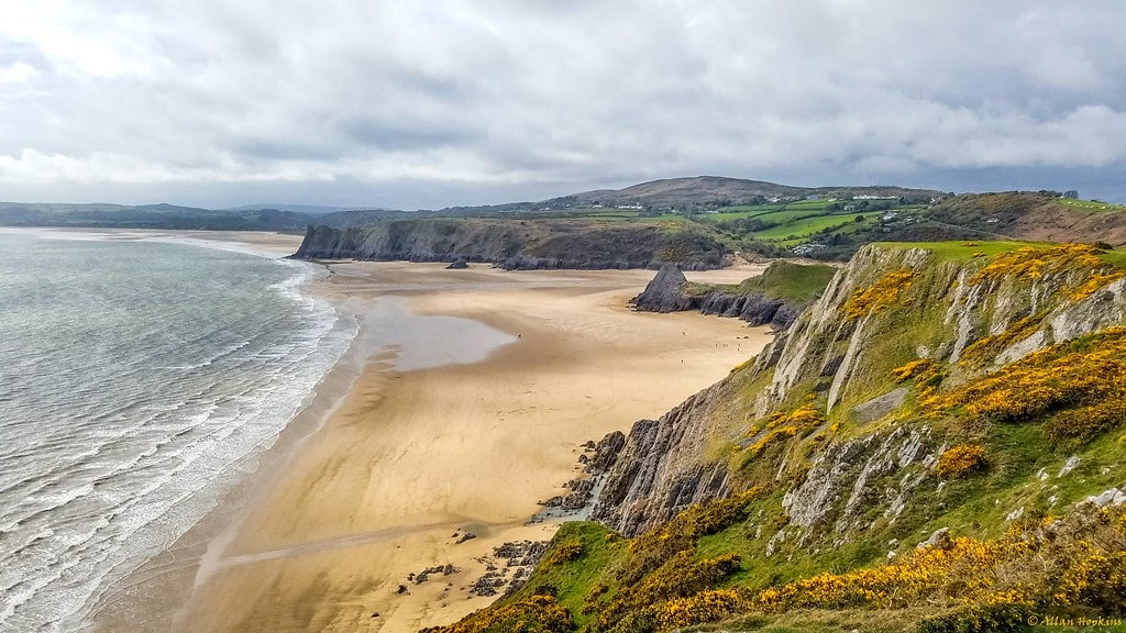 Three Cliffs Bay à la péninsule de Gower près de Cardiff et Swansea - Photo d'Allan Hopkins