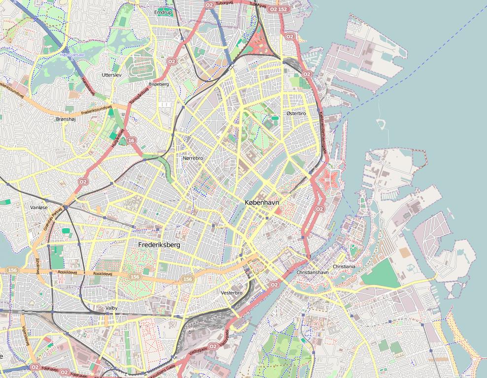 Carte de Copenhague : Tous les lieux les plus intéressants