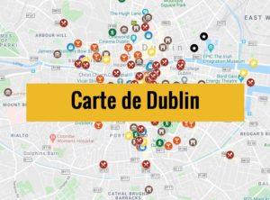 Carte de Dublin (Irlande) : Plan détaillé gratuit et en français à télécharger