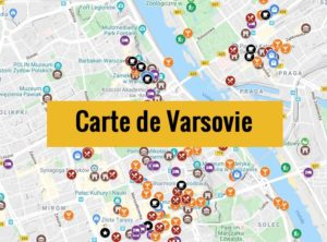 Carte de Varsovie : Plan détaillé des lieux intéressants