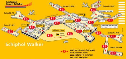 Plan de l'aéroport d'Amsterdam