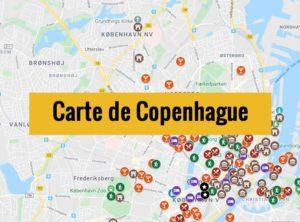 Carte de Copenhague (Danemark) : Plan détaillé gratuit et en français à télécharger