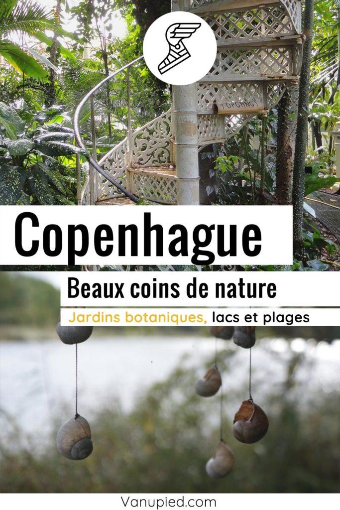 Parcs, jardins, lacs et coins de nature à Copenhague
