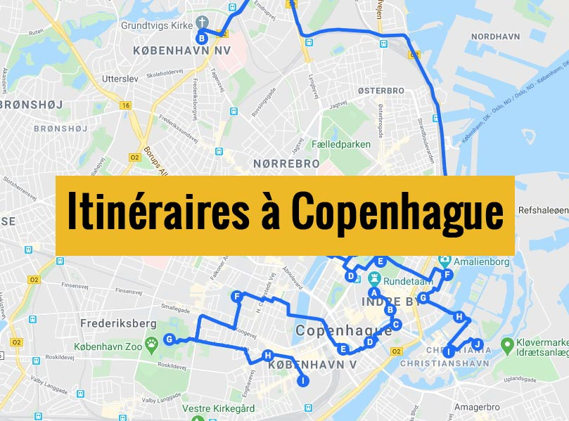 Itinéraires détaillés pour visiter Copenhague (Danemark) en 2, 3 jours ou plus.