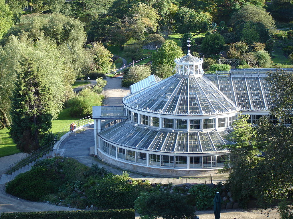 Belles serres du jardin botanique de Copenhague - Photo de Goethe.
