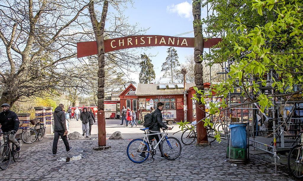 Entrée dans la commune libre de Christiania à Copenhague - Photo de News Oresund