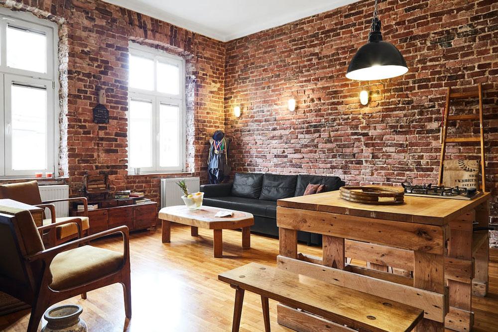 Airbnb à Cracovie - Ambiance industrielle pour cet appartement en location.