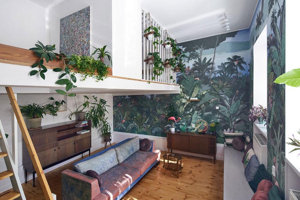 Airbnb à Cracovie : Appartement plein de plantes à louer.