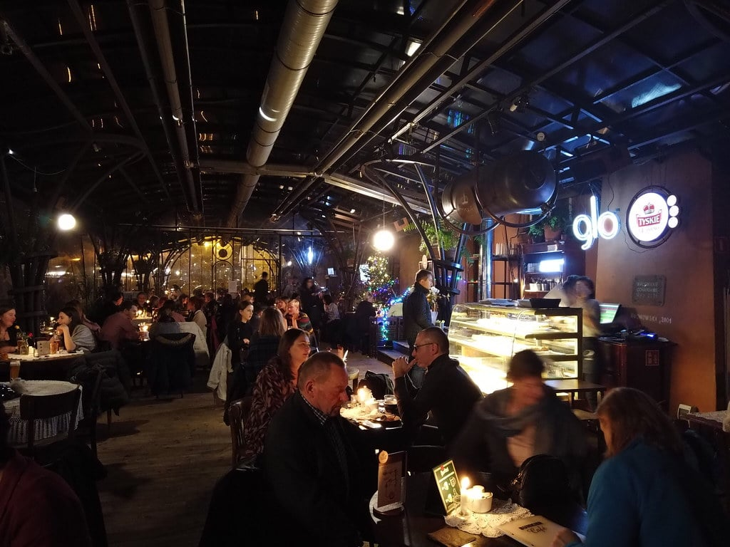 Café du Bunkier Sztuki à Cracovie.
