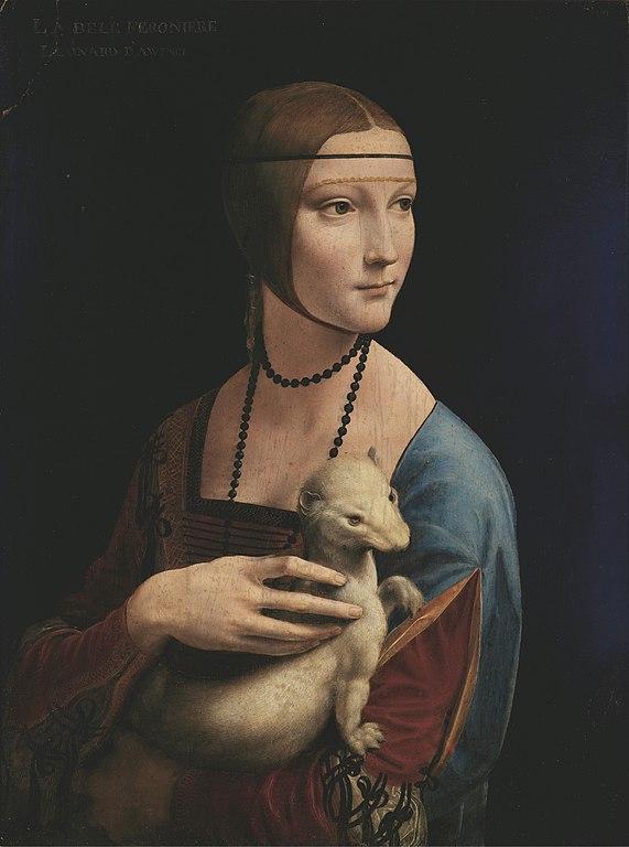 """""""La dame à l'Hermine"""" de Leonard de Vinci au Musée Czartoryski dans le centre historique dans le Vieux Cracovie."""