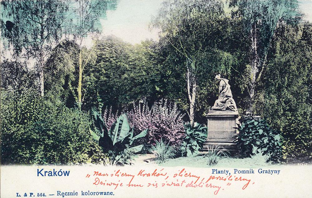 Parc de Planty à Cracovie en 1905.