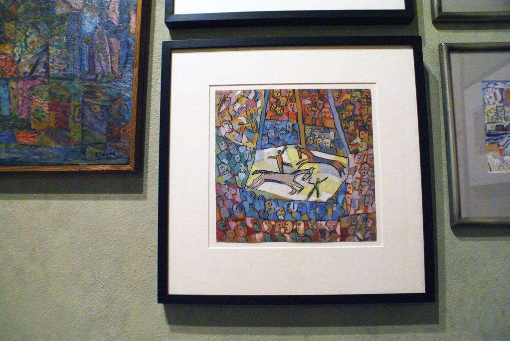 """""""Cirque"""" de Lewicki au musée Kamienica Szołayskich dans la Vieille Ville de Cracovie."""
