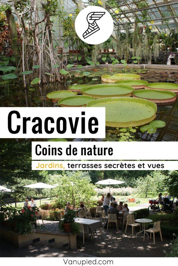 Parcs et jardins à Cracovie