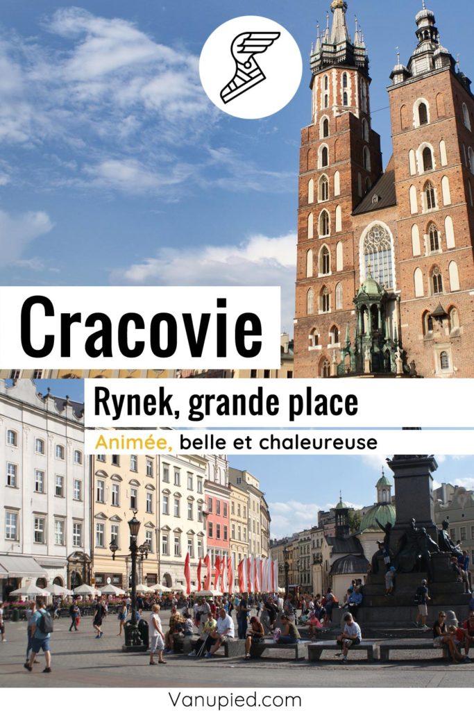 Rynek, place du marché de Cracovie