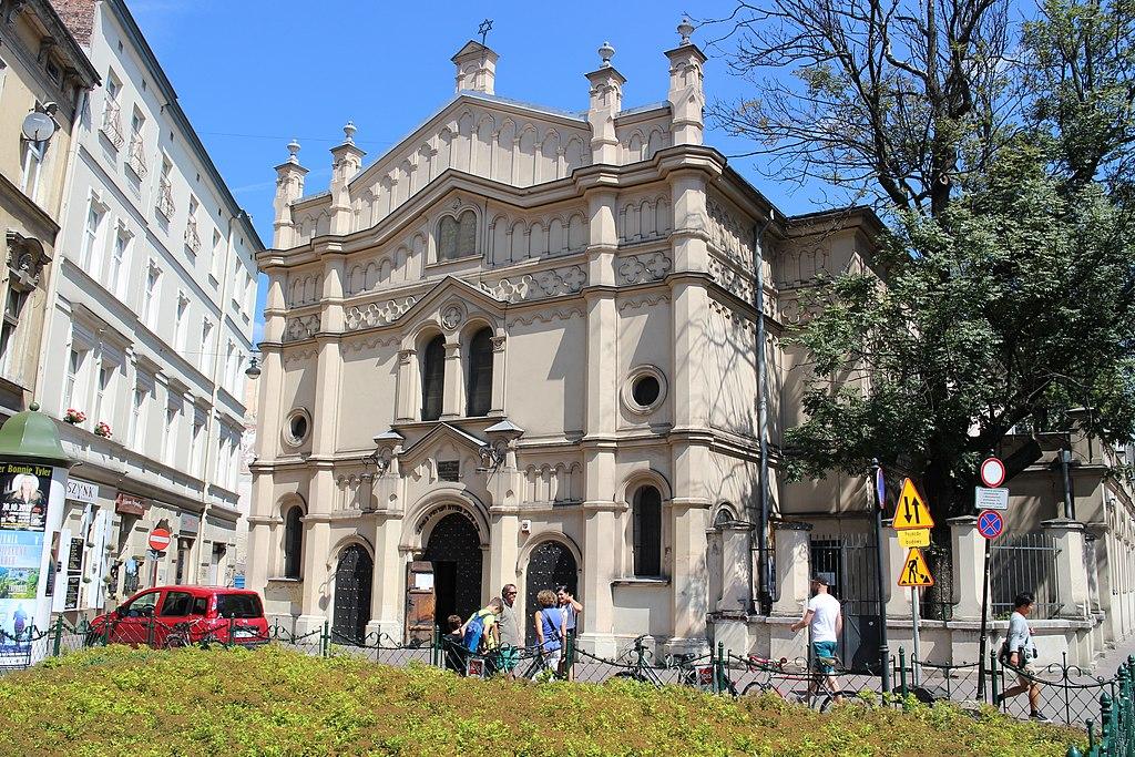 Façade de la synagogue reformiste Tempel dans le quartier de Kazimierz à Cracovie. Photo de Suicasmo