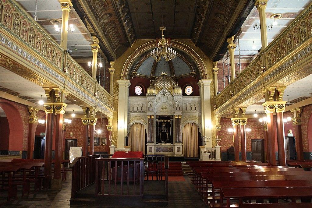 Intérieur de la synagogue reformiste Tempel dans le quartier de Kazimierz à Cracovie. Photo de Suicasmo
