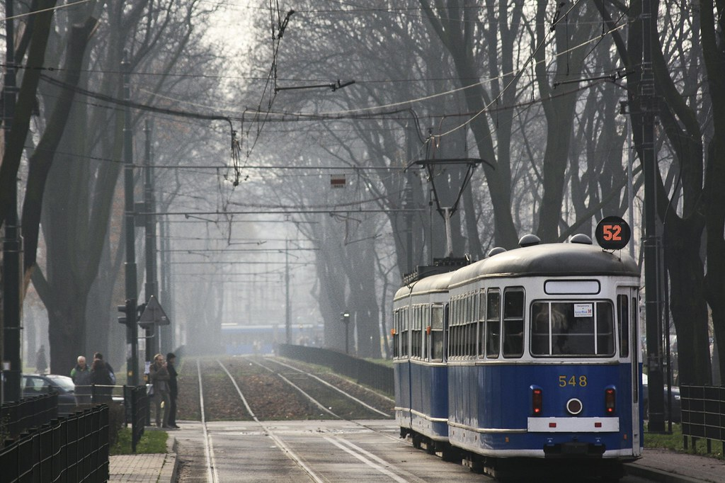 Ligne de tramway à Cracovie - Photo de Filip Knežić