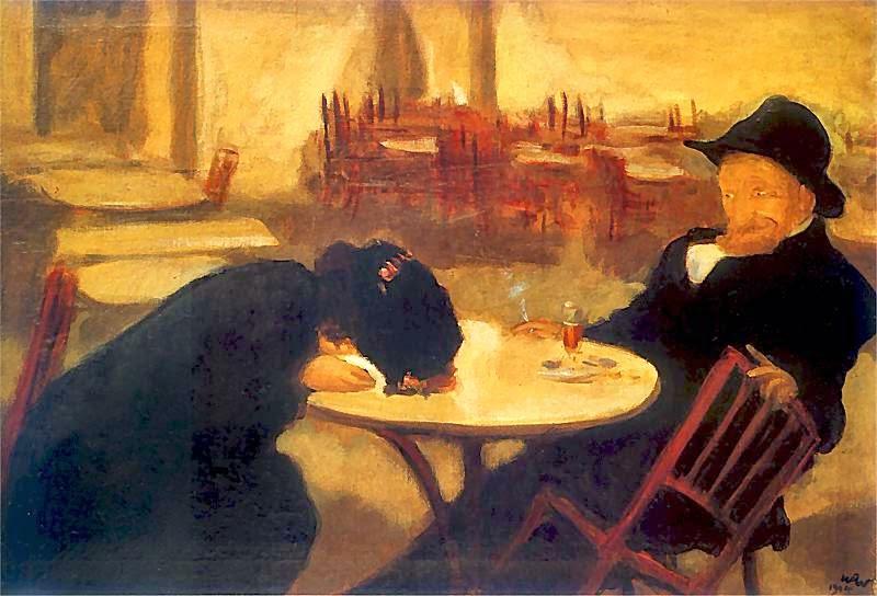 """""""Demon"""" de l'artiste Wojciech Weiss au Musée National de Cracovie."""