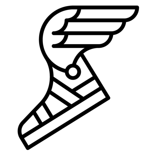 Logo de Vanupied : Hermes et ses sandales.