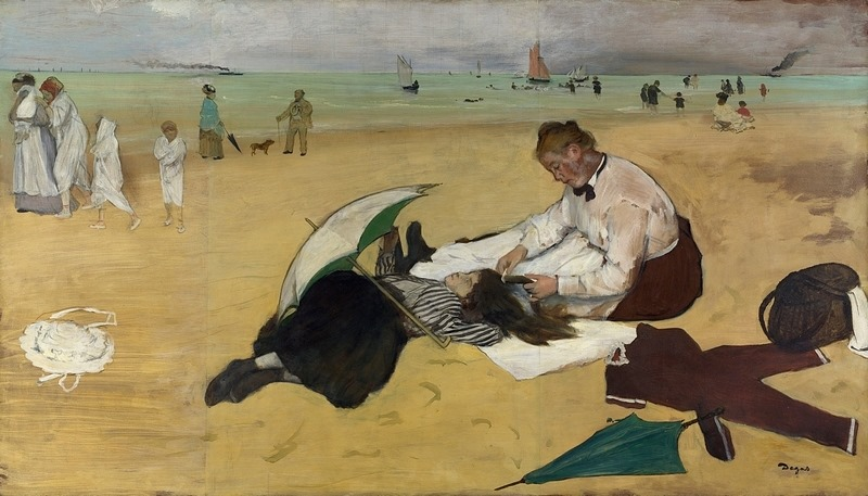 Toile d'Edgar Degas à Dublin au 14 Hugh Lane Gallery.