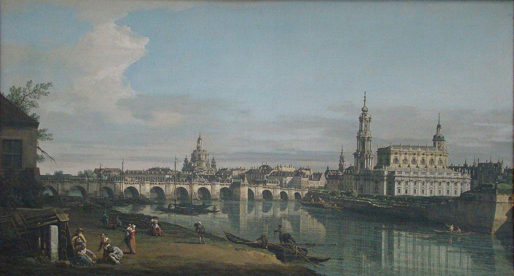 Paysage de Dresden vesr 1750 par Canaletto/Bellotto à la National Gallery of Ireland à Dublin