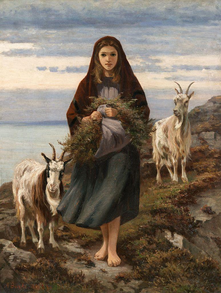 """""""Connemara Girl"""" (1870) par Augustus Nicholas Burke à la National Gallery of Ireland à Dublin."""