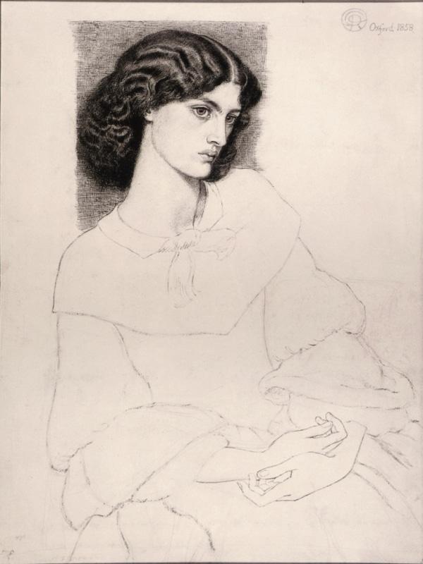 """""""Portrait de Jane Burden"""" (1858) par Dante Gabriel Rossetti à la galerie nationale d'Irlande à Dublin"""
