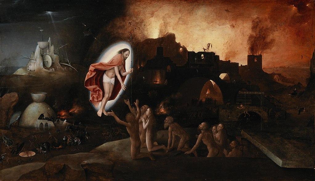 "Table ""Descent into Limbo"" par un artiste inspiré par Bosch - National Gallery of Ireland à Dublin"